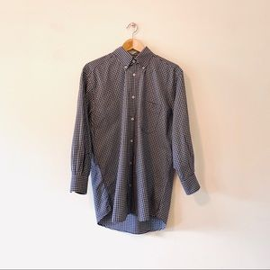 Christian Dior Vintage Tailored Checkered Shirt S